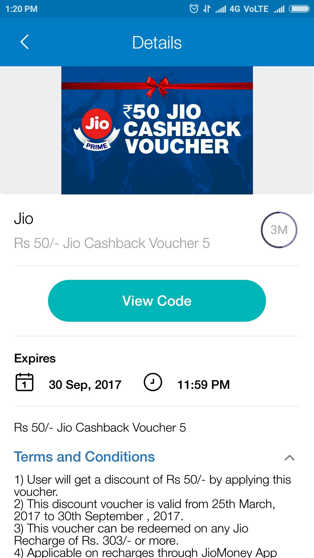 JioMoney Cashback Vouchers - Jio apps discussion - Reliance Jio